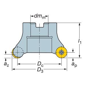 Sandvik Coromant RA200-057R25-19M