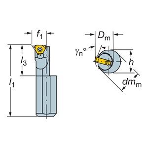 Sandvik Coromant R166.0KF-D10-D0812-2B