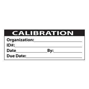 Duro ISO Calibration Roll of Labels