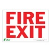 Zing 1079S Sign, Fire Exit, 7x10, Adhesive