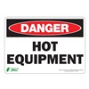 ZING 1126S Sign, Danger Hot Equipment, 7x10, Adhesive