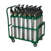 Saftcart MDE-24 Cylinder Trolley, 34 In. W, 2400 lb.
