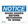 ZING 2137S Notice Sign, 10 x 14In, BL and BK/WHT, ENG
