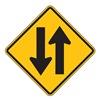 Zing 2390 Traffic Sign, 24 x 24In, BK/YEL, SYM, W6-3