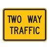 Zing 2392 Traffic Sign, 18 x 24In, BK/YEL, 2WAY TRFC
