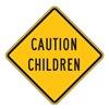 Zing 2395 Caution Sign, 24 x 24In, BK/YEL, Text, MUTCD