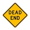 Zing 2398 Traffic Sign, 24 x 24In, BK/YEL, Dead End
