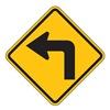 Zing 2410 Traffic Sign, 24 x 24In, BK/YEL, SYM, W1-1L