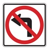 Zing 2414 Traffic Sign, 24 x 24In, R and BK/WHT, SYM