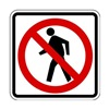 Zing 2415 Traffic Sign, 24 x 24In, R and BK/WHT, SYM