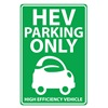 ZING 2462 Parking Sign, 18 x 12In, GRN/WHT, Eco Car