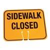 Cortina 03-550-SC Traffic Cone Sign, Orange, Sidewalk Closed
