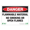 Zing 2100A Danger No Smoking Sign, 10 x 14In, ENG