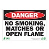Zing 2110A Danger No Smoking Sign, 10 x 14In, ENG