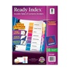 Avery 11133 Index Tab Set, Numbered, 8 Tabs, Multicolor