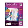 Avery 11125 Index Tab Set, A-Z, 26 Tabs, Multicolor