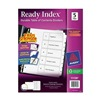 Avery 11130 Index Tab Set, Numbered, 5 Tabs, White