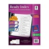 Avery 11132 Index Tab Set, Numbered, 8 Tabs, White