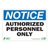 Zing 2130A Notice Sign, 10 x 14In, BL and BK/WHT, ENG
