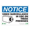 Zing 2143A Notice Security Sign, 10 x 14In, ENG, SURF