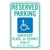 Brady 115250 AZ Parking Sign, 18 x 12In, GRN and BL/WHT