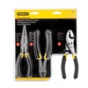 Stanley 84-056 Plier Set, 6-5/8, 6-3/8, 7 In L, Black, 3 Pc