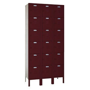 LYON Assembled Locker, 6 Tier, 36x15x78, Red at Sears.com