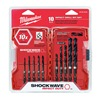 Milwaukee 48-89-4445 Drill Bit Set, 10 Pc, 1/4 In Shank