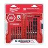 Milwaukee 48-89-4445 Drill Bit Set, 10 Pc, 1/4 In Shank
