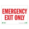 Zing 1084A Exit Sign, 7 x 10In, R/WHT, Recycled AL, ENG