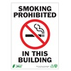 Zing 1086A No Smoking Sign, 7 x 10In, R and BK/WHT