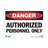 Zing 1090A Danger Sign, 7 x 10In, R and BK/WHT, ENG