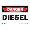 Zing 1092A Danger Sign, 7 x 10In, R and BK/WHT, DSL