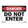 Zing 1093A Danger Sign, 7 x 10In, R and BK/WHT, ENG