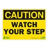 ZING 1154A Caution Sign, 7 x 10In, BK/YEL, Recycled AL