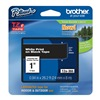 Brother TZe355 Label Tape, Black/White, 26-1/5 ft. L