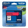 Brother TZe441 Label Tape, Black/Red, 26-1/5 ft. L