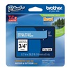 Brother TZe545 Label Tape, White/Blue, 26-1/5 ft. L