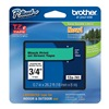 Brother TZe741 Label Tape, Black/Green, 26-1/5 ft. L