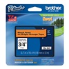 Brother TZeB41 Label Tape, Black/Orange, 26-1/5 ft. L