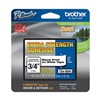 Brother TZeS241CS Label Tape, Black/White, 26-1/5 ft. L