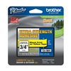 Brother TZeS641CS Label Tape, 26-1/5 ft. L, Black/Yellow