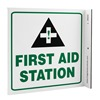 Zing 2523 First Aid Sign, 7 x 7In, GRN and BK/WHT