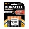 Duracell MN1500B8Z Battery, AA, Alkaline, PK 8