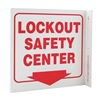 Zing 2571 Lockout Sign, 7 x 7In, R/WHT, ENG