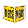 Zing 2602 Information Sign, 7 x 12In, BK/YEL, MSDS