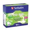 Verbatim VER95156 CD-RW Disc, 700 MB, 80 min, 12x, PK 10