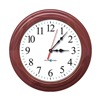 Pyramid S9A6AUGBBC Wireless Clock, Analog, Cherry