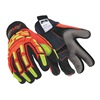 HexArmor 4021X 9/L Cut Resistant Gloves, Yellow/Orange, L, PR