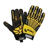 HexArmor 4025-7 Cut Resistant Gloves, Yellow/Black, S, PR